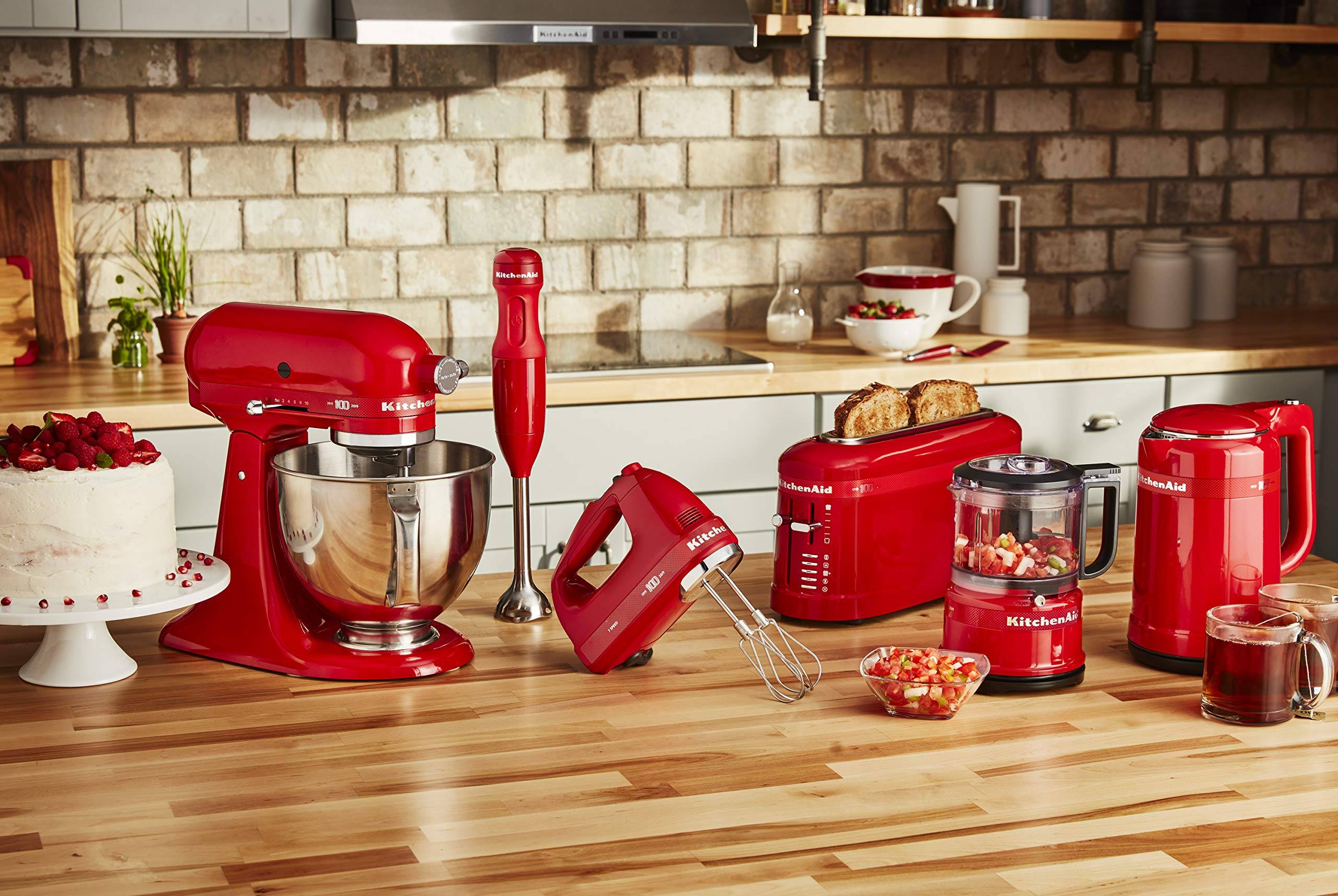 KitchenAid KHM7210QHSD 100 Year Limited Edition Queen of Hearts Hand Mixer, 7 Speed, Passion Red by KitchenAid (Image #4)