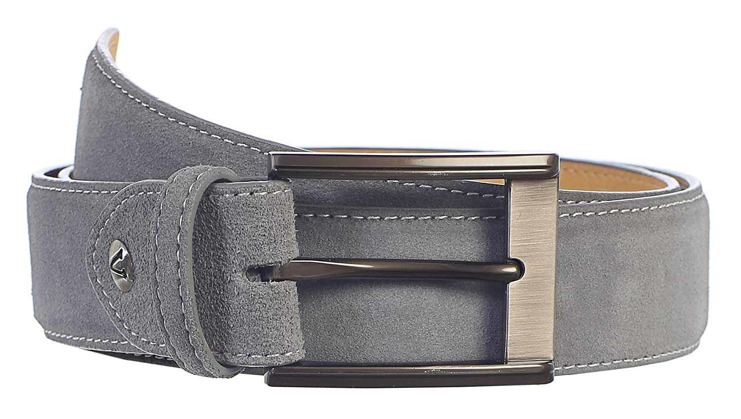 Men/'s Genuine Suede Belt GREY w// Single-Prong Buckle Premium Handmade Gift