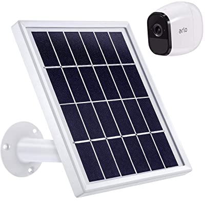 Blulu Solar Panel Only Compatible with Arlo Pro, Waterproof Arlo Accessory to Power Arlo Pro Outdoor Security Camera Continuously with Adjustable Mount Bracket, 12 Feet/ 3.6 m Cable : Garden & Outdoor