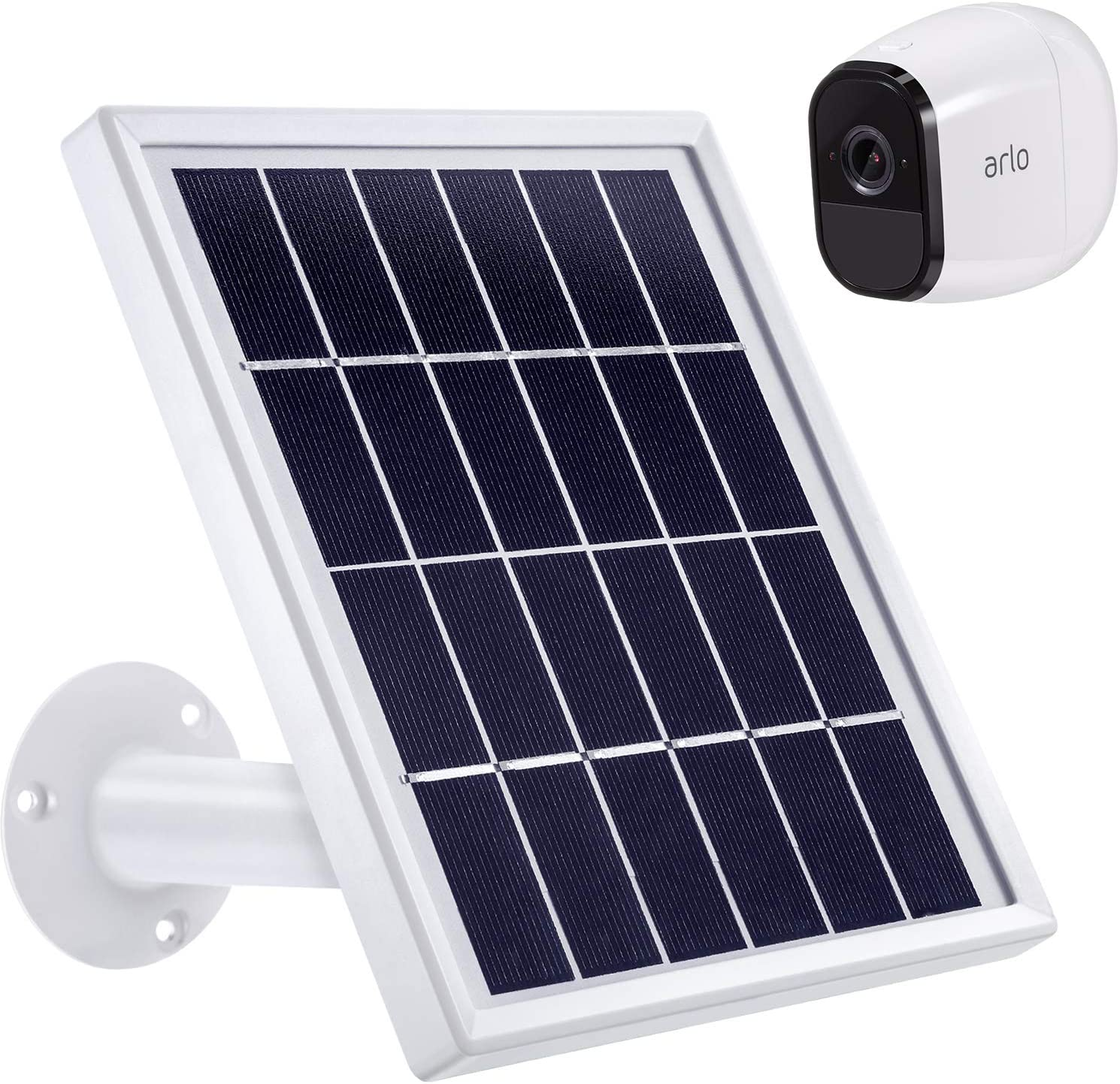 For Arlo Pro 2 Security Camera Solar Panel Outdoor Cam Solar Power Charger Black