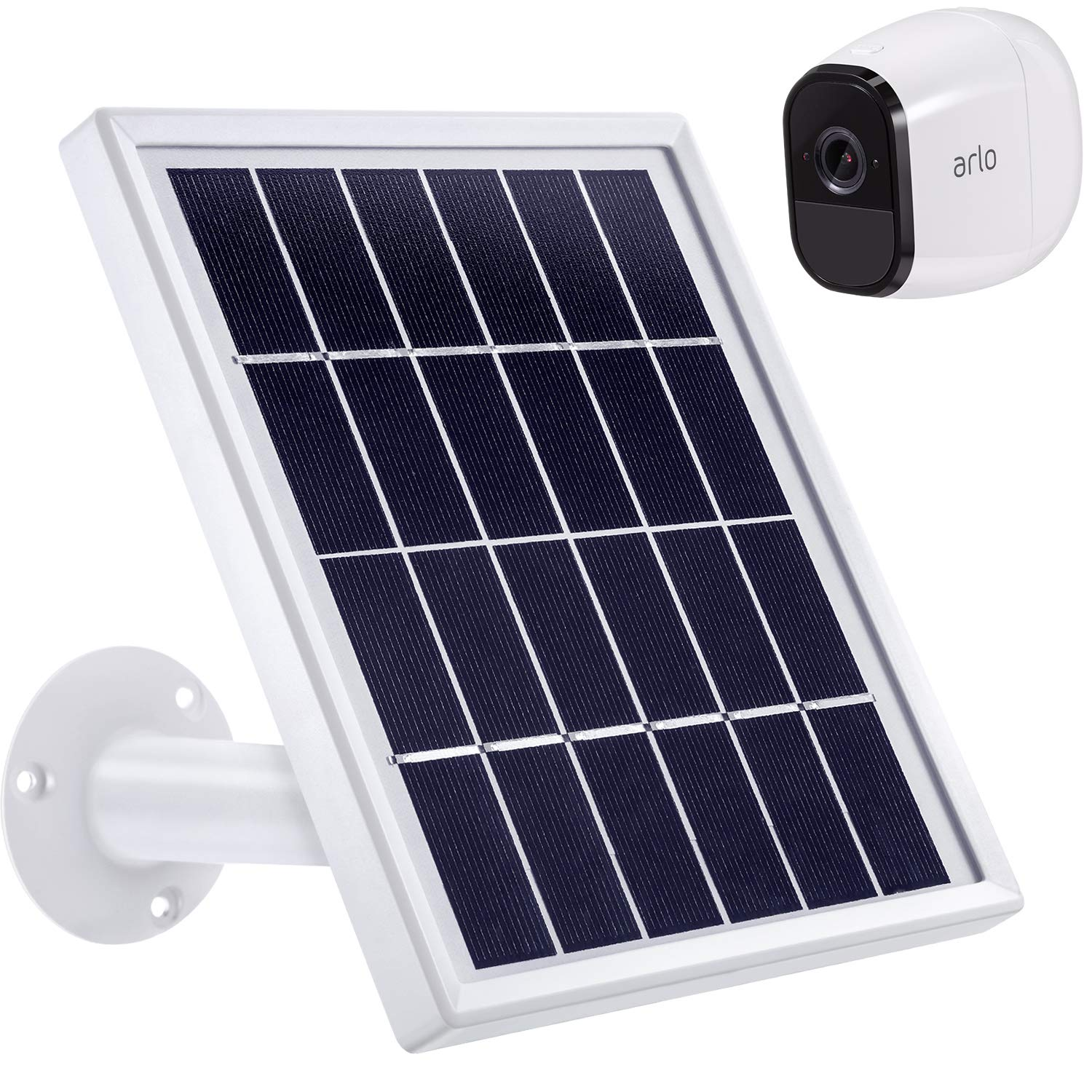 Blulu Solar Panel Only Compatible with Arlo Pro, Waterproof Arlo Accessory to Power Arlo Pro Outdoor Security Camera Continuously with Adjustable Mount Bracket, 12 Feet 3.6 m Cable