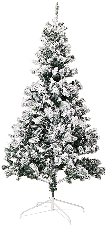 Christmas Tree Snow.Perfect Holiday Christmas Tree 6 Feet Flocked Snow
