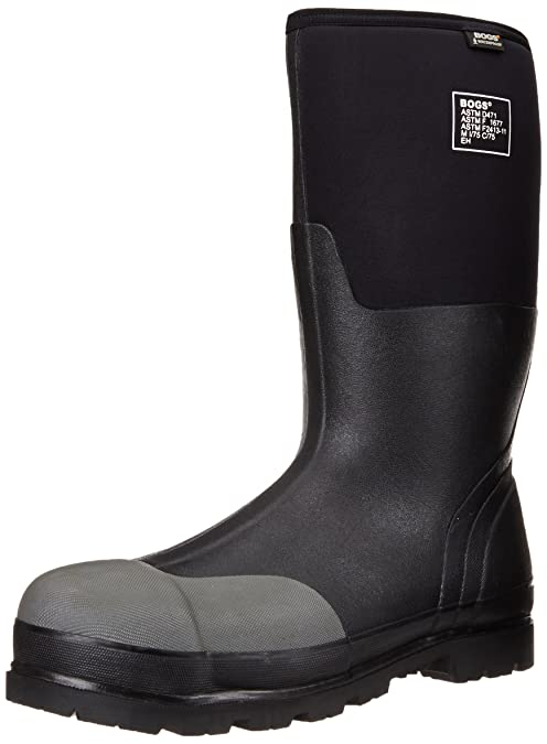 ee688eb97c9826 Amazon.com | Bogs Men's Forge Steel Toe Waterproof Rubber Work Rain Boots |  Industrial & Construction Boots