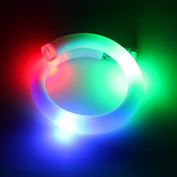 GloFX Pulsera LED - Luces Brillantes de Color Rojo luz Azul Verde para la Fiesta Rave