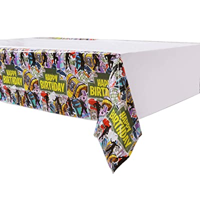 Fort Tablecloth Tablecover for Gaming Party Supplies [3 PC Set]: Kitchen & Dining