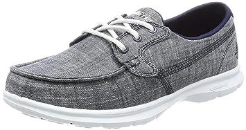 55add141e6f62 Skechers Women's Go Step-Riptide Boat Shoes, Navy Marina, 8 UK ...