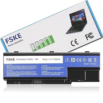 FSKE® AS07B31 AS07B32 Batería para Acer AS07B61 AS07B41 AS07B71 AS07B51 AS07B72 AS07B42 Aspire 5920 5920G 6530 Notebook Battery,11.1V 5000mAh 6-células: ...