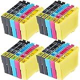 Compatible Epson Stylus SX445W Ink Cartridges 8X Black 4X Cyan 4X Magenta 4X Yellow (20-Pack)