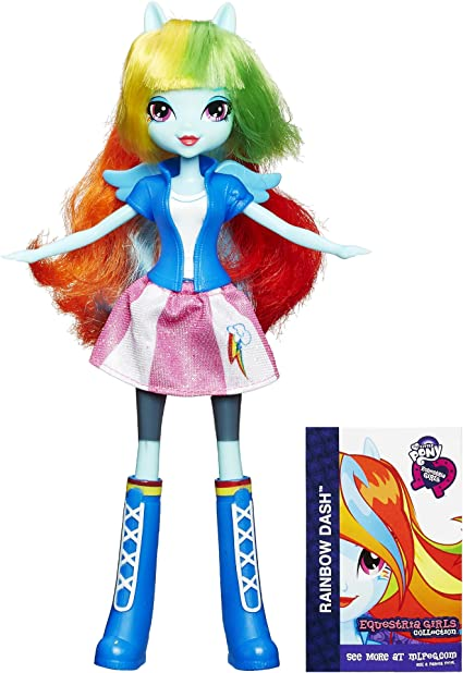 Amazon.com: My Little Pony Equestria Girls Collection Rainbow Dash Doll:  Toys & Games