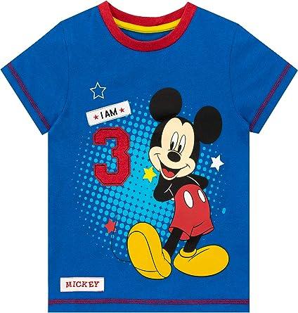 Disney Gar/çons Mickey Mouse Set T-Shirt Bleu Short