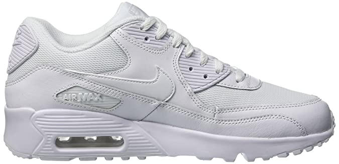 Amazon.com | Nike Mens Air Max 90 Mesh Grade School Athletic & Sneakers White | Sneakers