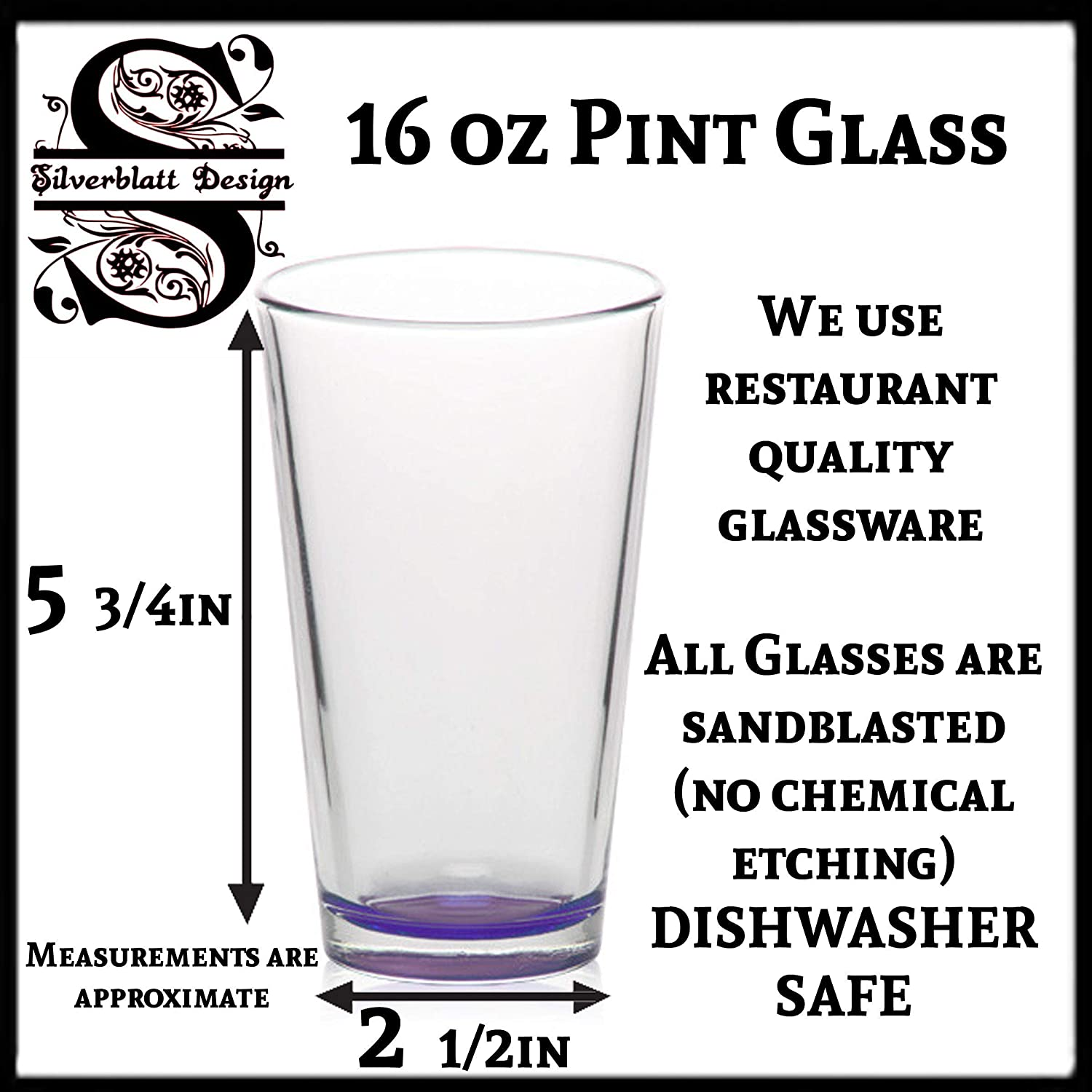 The Green Dragon Fantasy Pub//Bar 16 oz Etched Pint Glass Lord of the Rings