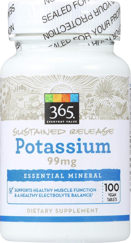 365 Everyday Value, Potassium 99mg, 100 ct