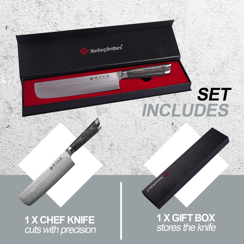 Amazon.com: Cuchillo de chef de 7.0 in, cuchillo Nakiri ...