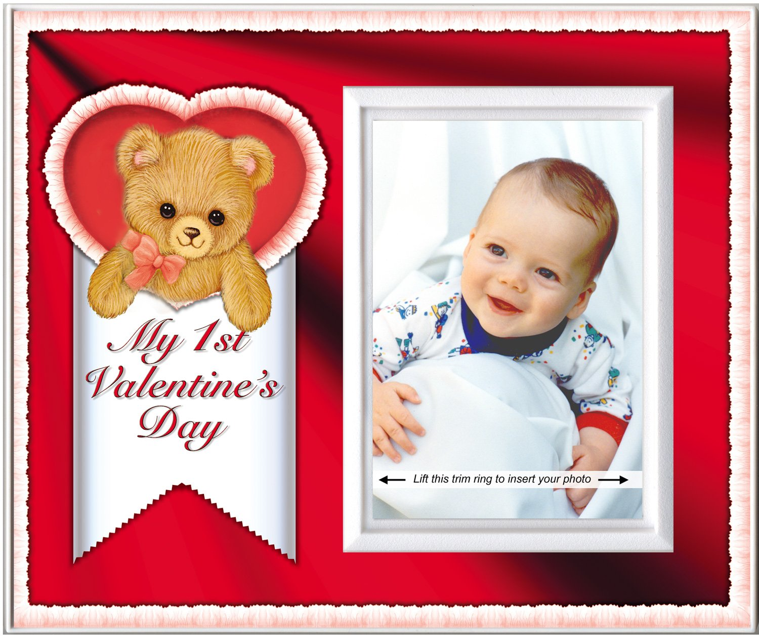 Amazon.com : Baby\'s First Valentine\'s Day Picture Frame Gift and ...