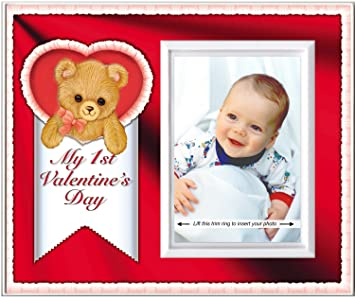 Amazoncom Babys First Valentines Day Picture Frame Gift And