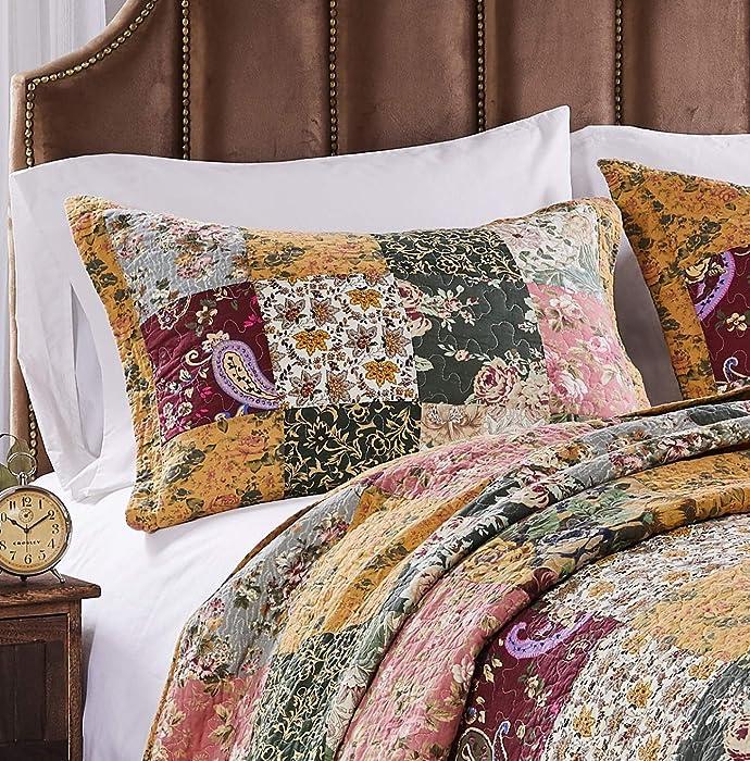 Greenland Home Fashions Antique Chic Standard Sham-Multi, 20x26-inch, Multicolor