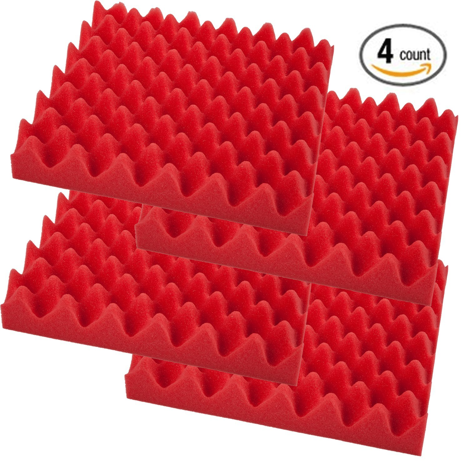 2 Pack- Acoustic Panels Studio Foam Convoluted 2.5 X 12 X 12 Sound TilesEgg Crate Foamily 2packEgg
