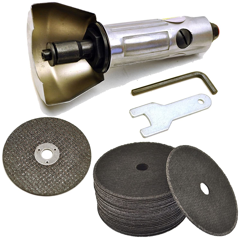 3' Air Cut Off Tool Cut-off Tool Grinder Cutoff 25pk Cutting Grinding Discs 75mm AB Tools