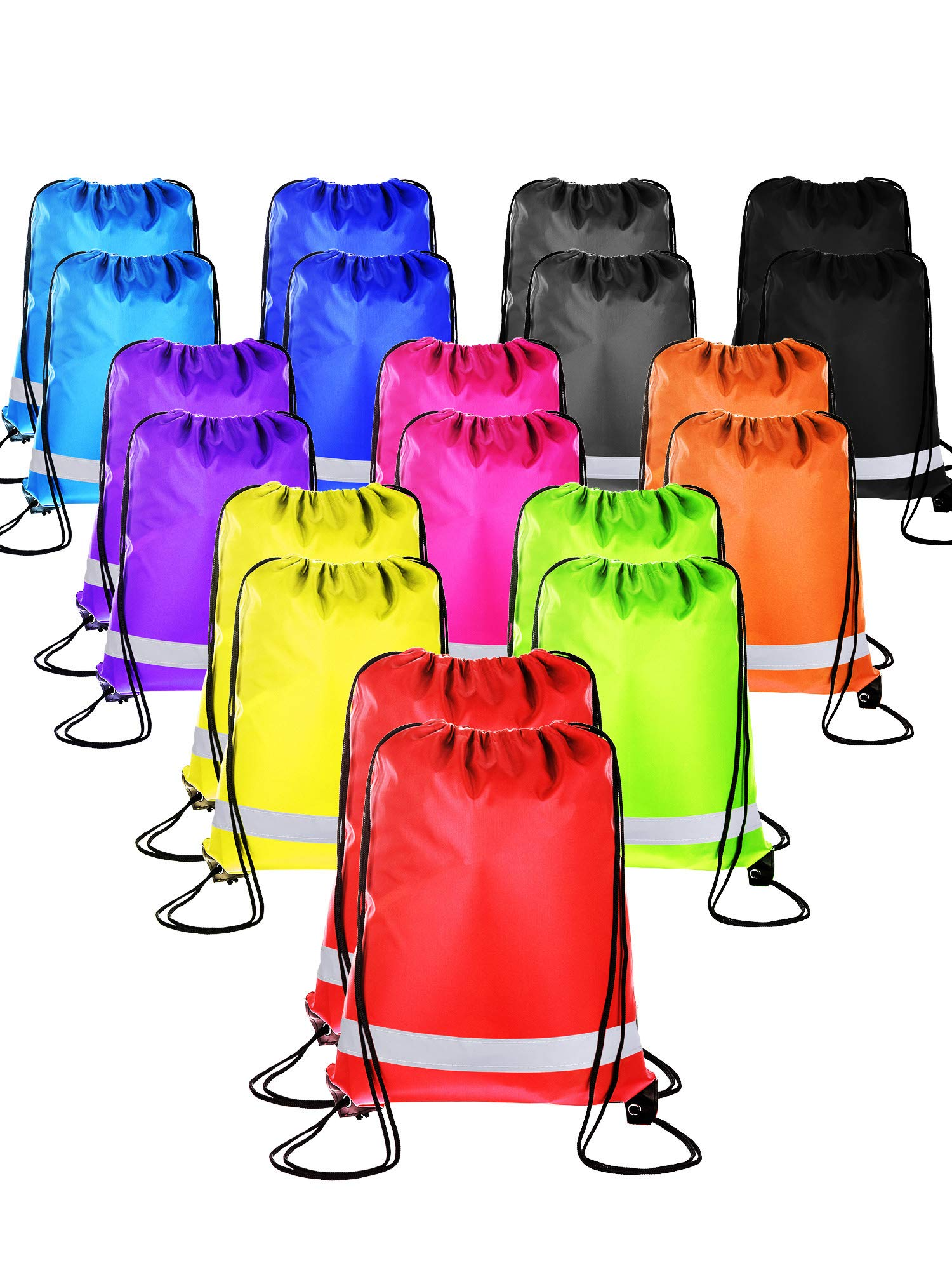 Shappy 20 Pieces Drawstring Bag Backpack Sport Bag Cinch Tote Travel Rucksack for Traveling and Storage (Multicolored 3)