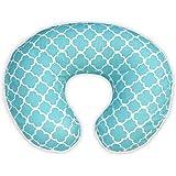 Boppy Pillow Slipcover, Classic Plus Trellis Turquoise/Blue