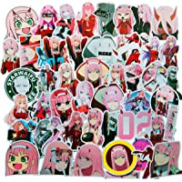 Darling in The FRANXX Sticker Pack of 50 Stickers - Waterproof Durable Stickers Classic Japanese Anime Stickers for…