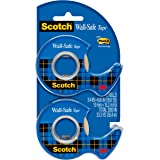 Scotch Wall-Safe Tape, Made with Post-it Technology, Invisible, Designed for Hanging, 3/4 x 600 Inches, 2 Dispensered Rolls (183-DM2)