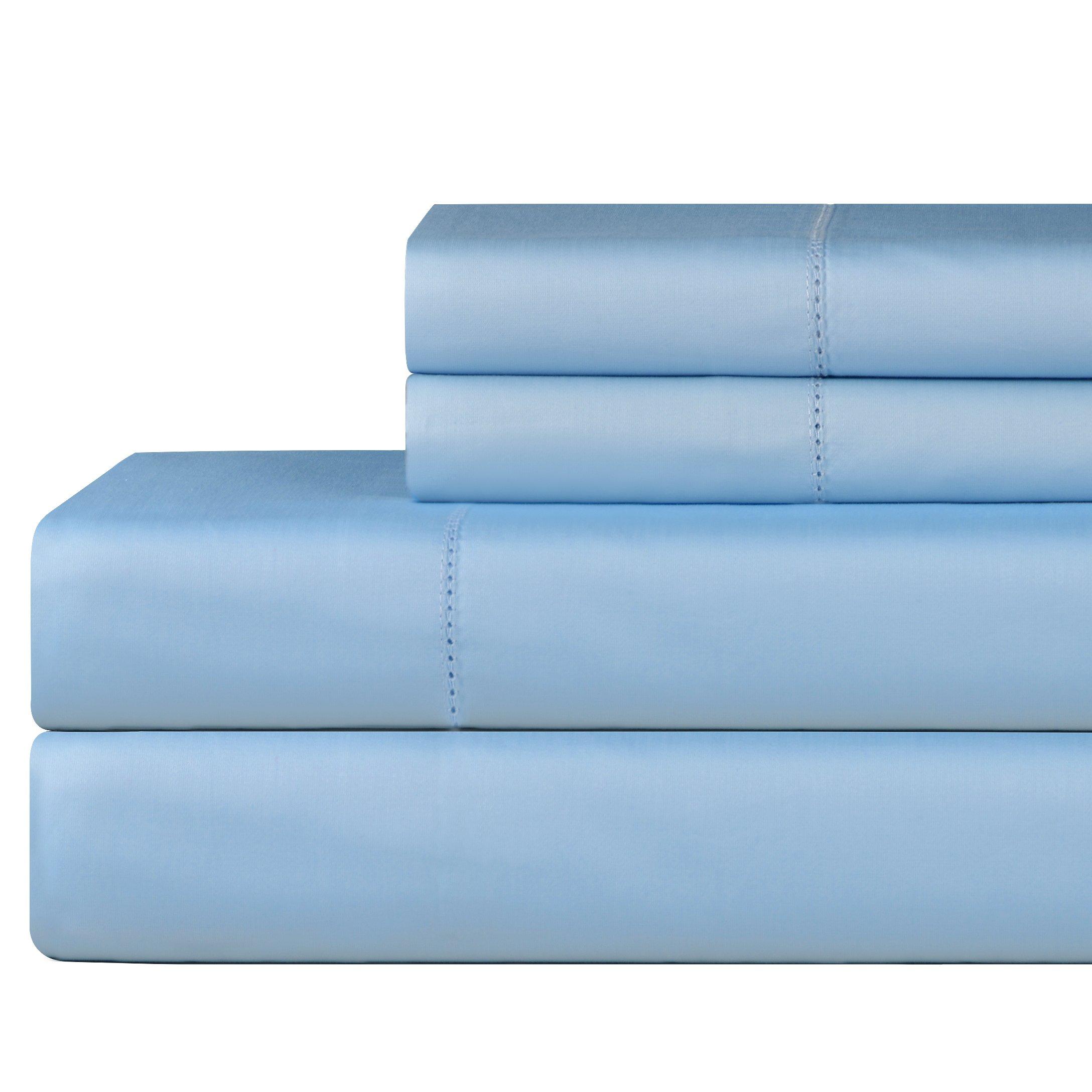 Celeste Home 610 Thread Count Pima Cotton Pillowcases, Standard, Spa Blue