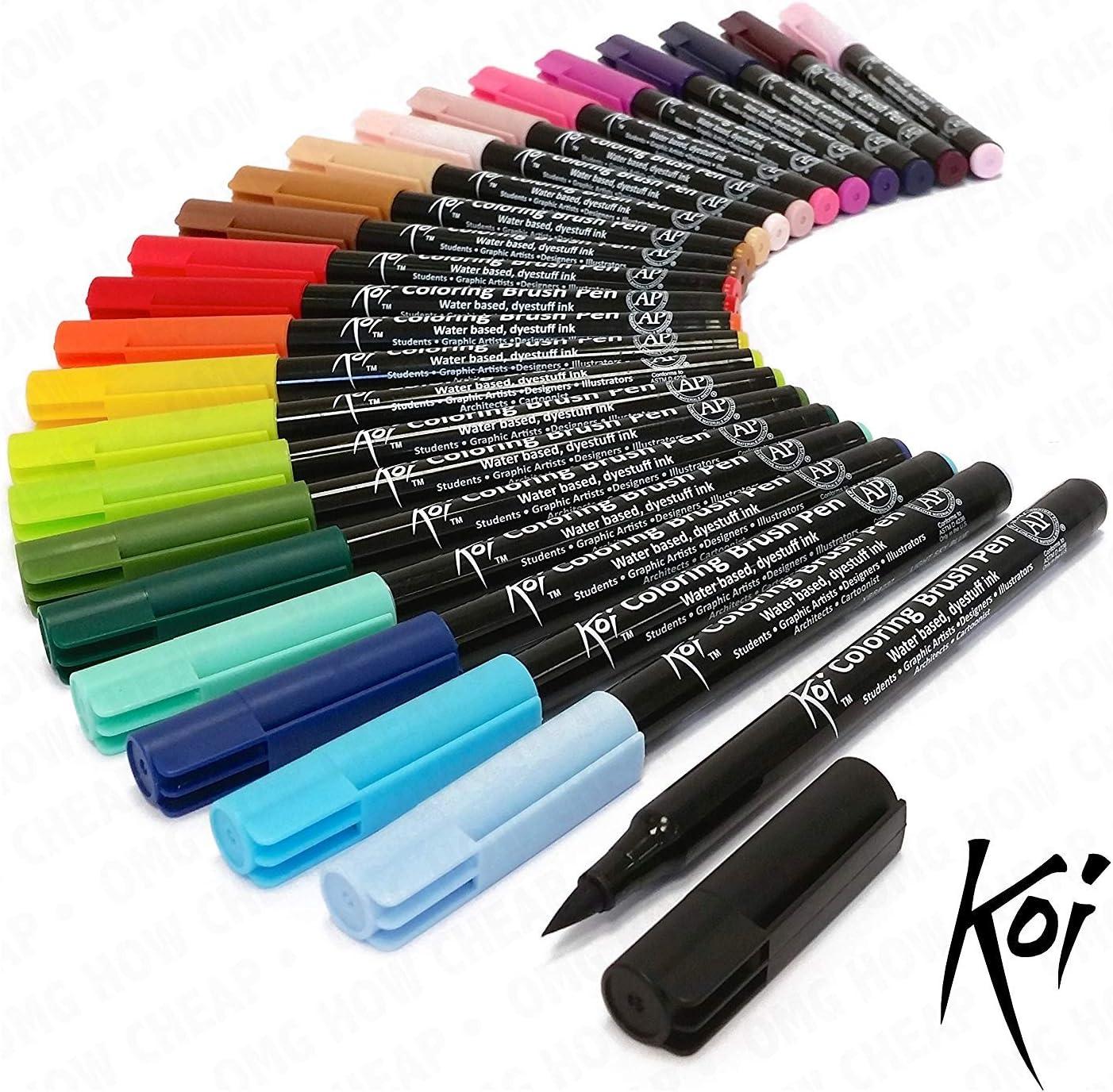 Karin Mega Box Brush Marker Pro brushpens su base d acqua ideale per colorare disegnare e lettering a mano multicolore