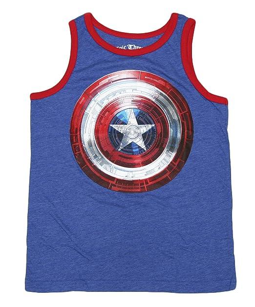 b7ab057517570 Amazon.com  Boys Sleeveless Muscle Tank Top T-shirt Navy - Superman ...