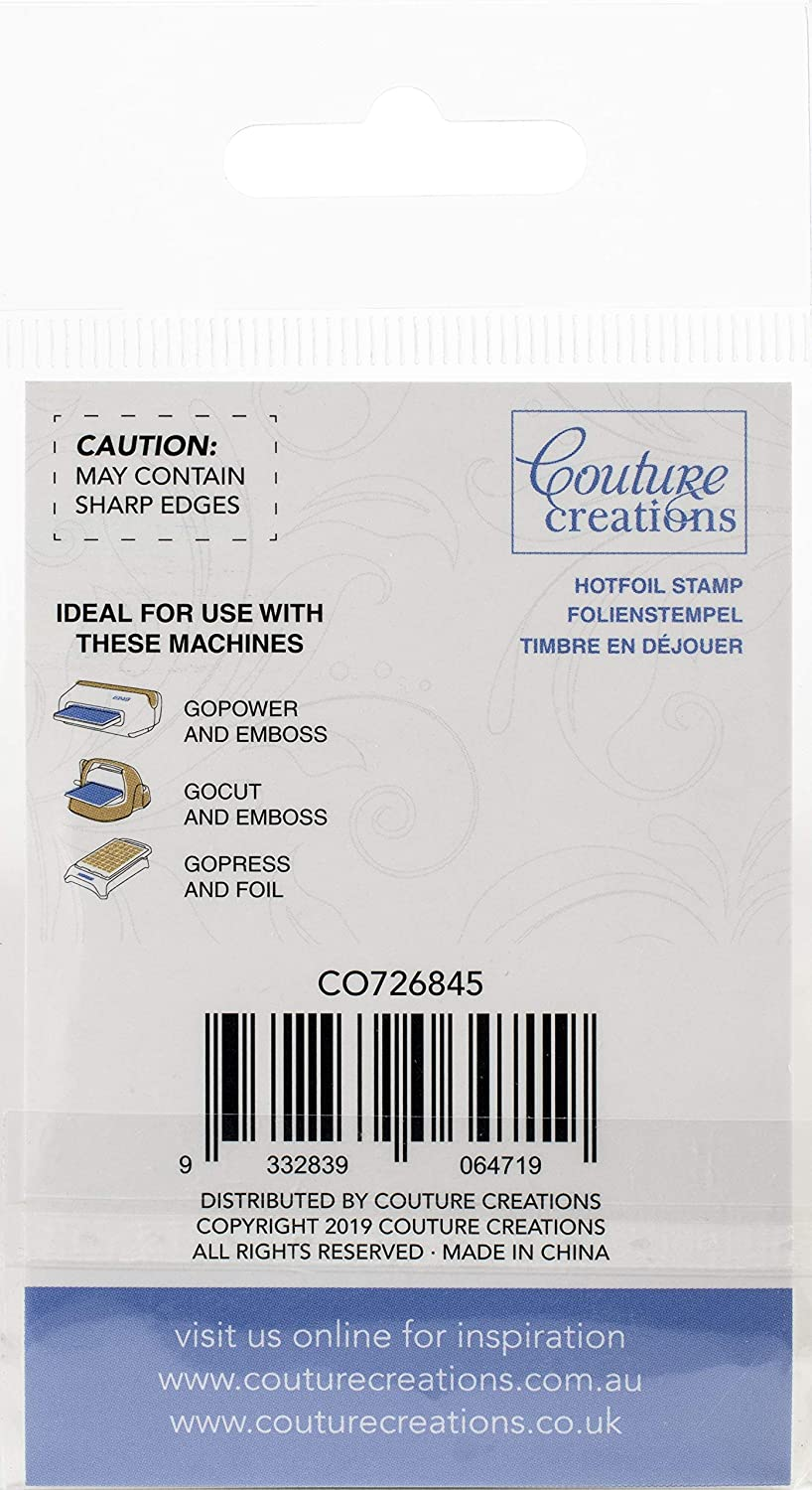 CURLING SQUARE CORNER/' GoPress /& Foil Couture Creations /'HOTFOIL STAMP