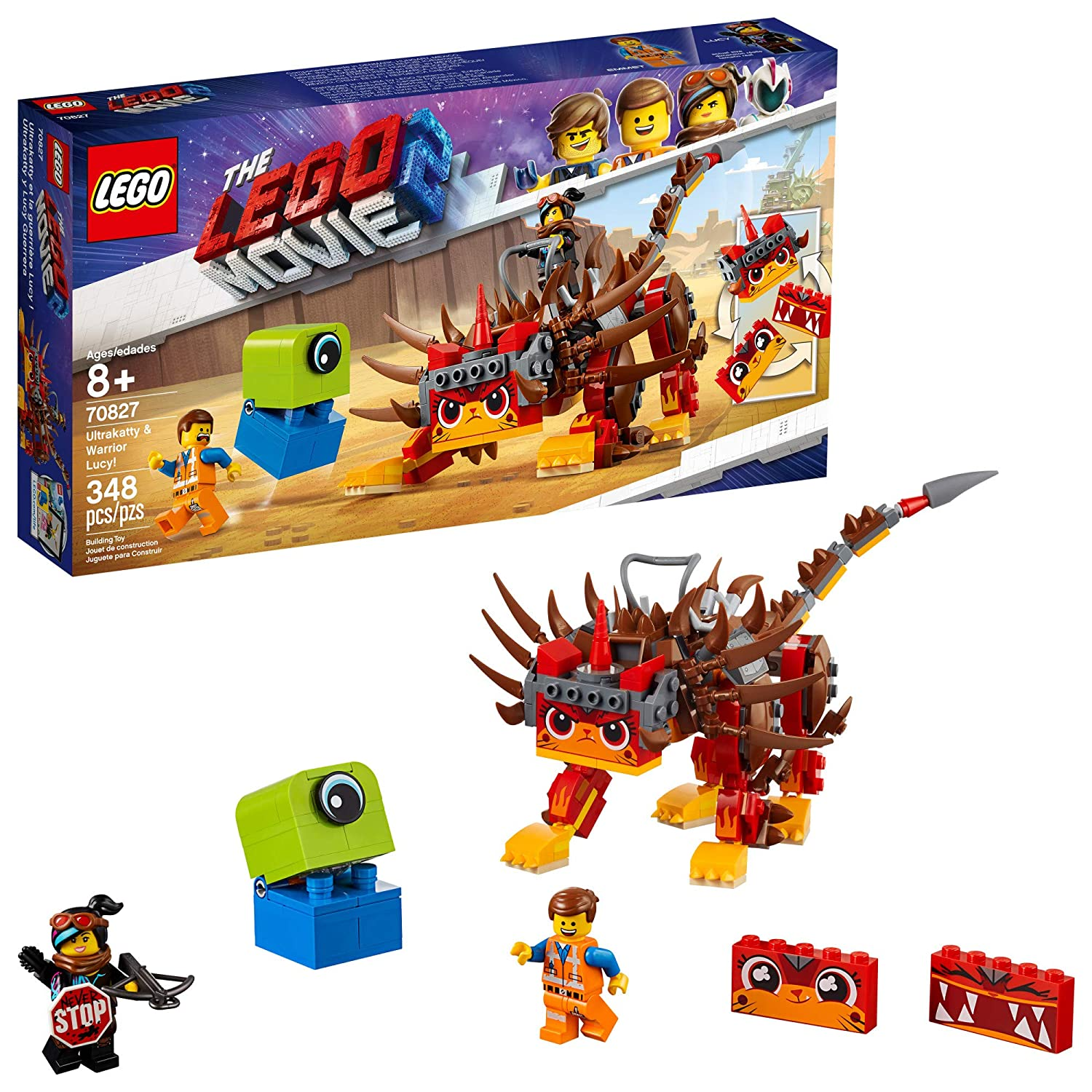 Kit Building Lego Movie Pieces Ultrakattyamp; For Lucy70827 The Warrior Creative Kids348 2 Action dCxBreoW