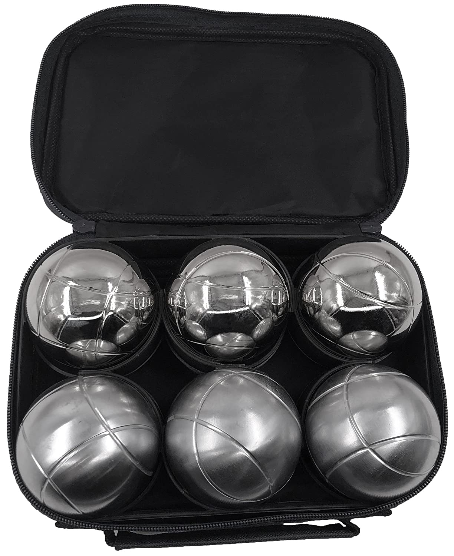 8 Boules Noir pour 3 Boules Tofern Lot de 2 Sacoche Trousse Jeu de Boules Nylon Oxford Robuste Pratique Sac /à Main P/étanque sans Boules Adaptation 3 6