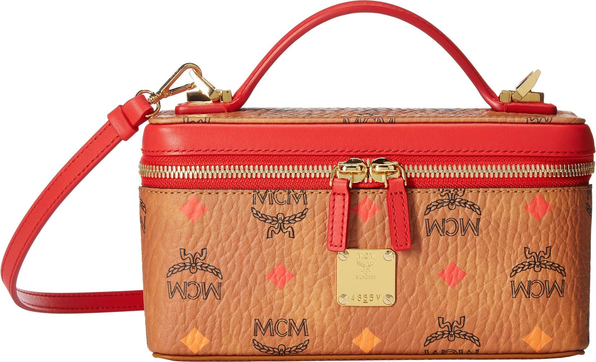 MCM Women's Spektrum Visetos Small Leather Goods Others Mini Spectrum Diamond Cognac One Size