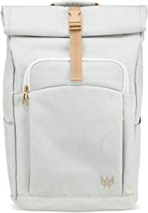 "Acer Predator Rolltop Jr. Smoky White Backpack - For All 15.6"" Gaming Laptops, Travel backpack, Organized Pockets for All Gear"