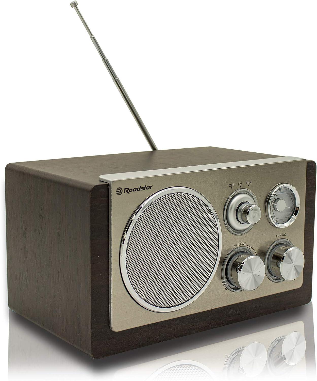 Roadstar HRA-1245WD Portátil Analógica Madera - Radio (Portátil ...