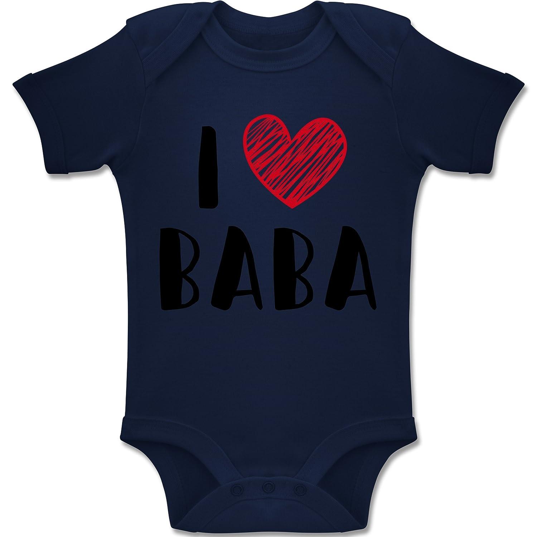 Shirtracer Bunt gemischt Baby - I Love Baba - Baby Body Kurzarm Jungen Mädchen BZ10