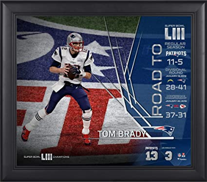 best website 84d18 67248 Tom Brady New England Patriots Framed 15 quot  x 17 quot  Super Bowl LIII  Champions Collage