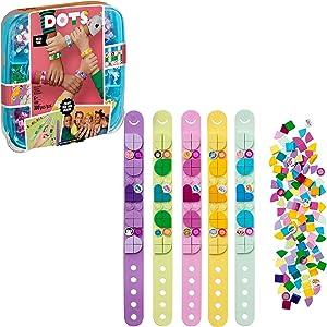 LEGO DOTS Bracelet Mega Pack 41913 DIY Toy Jewelry Craft Bracelet Making Kit for Kids Who Love Arts and Crafts, Custom Friendship Bracelets Make a Great Birthday Gift, New 2020 (300 Pieces)