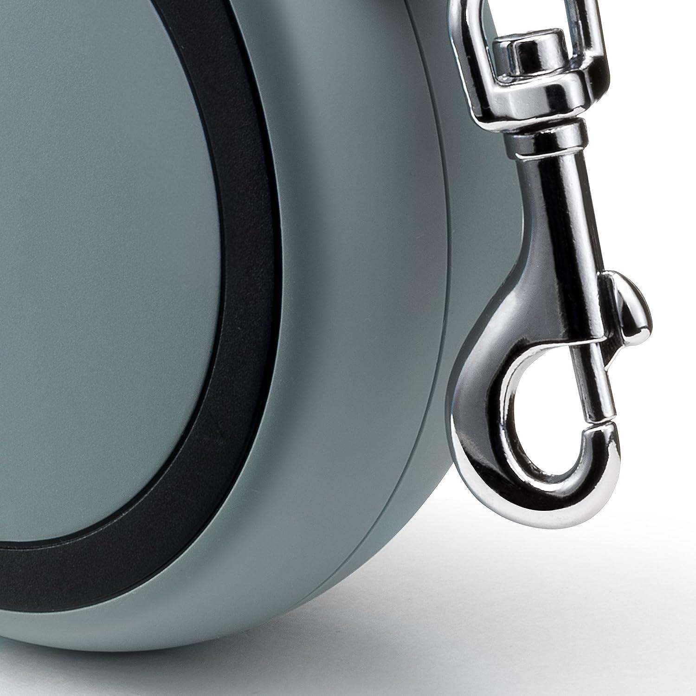 flexi New Comfort Small Retractable Dog Leash Tape 16//5m Grey