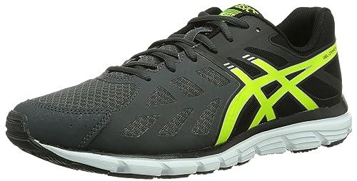 Asics Gel Zaraca 3 - Zapatillas de running para hombre, color negro/ gris/ amarillo/ blanco, talla 47: Amazon.es: Zapatos y complementos