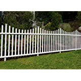 """Zippity Outdoor Products Manchester Semi-Permanent Vinyl Fence Kit (2 Pack), 42"""" x 92"""""""