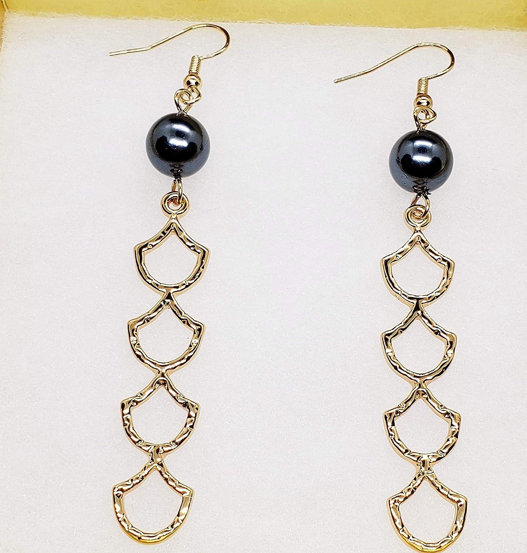 Mermaid Drop Pearl Shell Earrings
