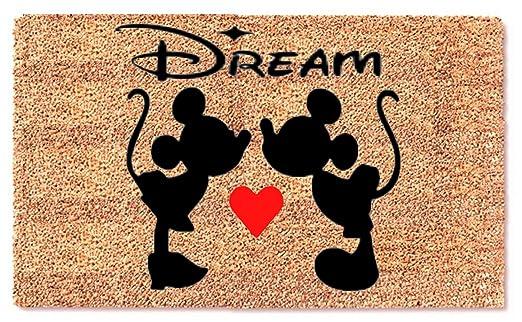 MaxEcor - Felpudo con diseño de Mickey Minnie y corazón de ...