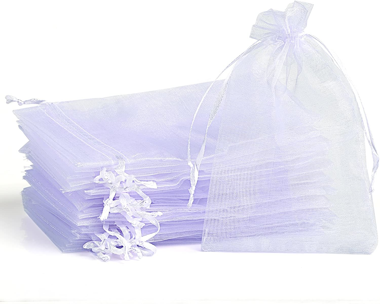100tlg 15 x 10 cm Weiss Organzabeutel Organza Tasche Tüte Gastgeschenk Party
