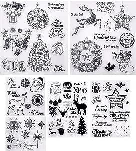 6 Hojas de Sellos de Navidad en Estilos Diferentes Sellos ...