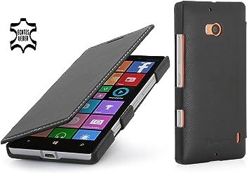 StilGut Book Type Case, custodia in vera pelle versione booklet per Nokia Lumia 930
