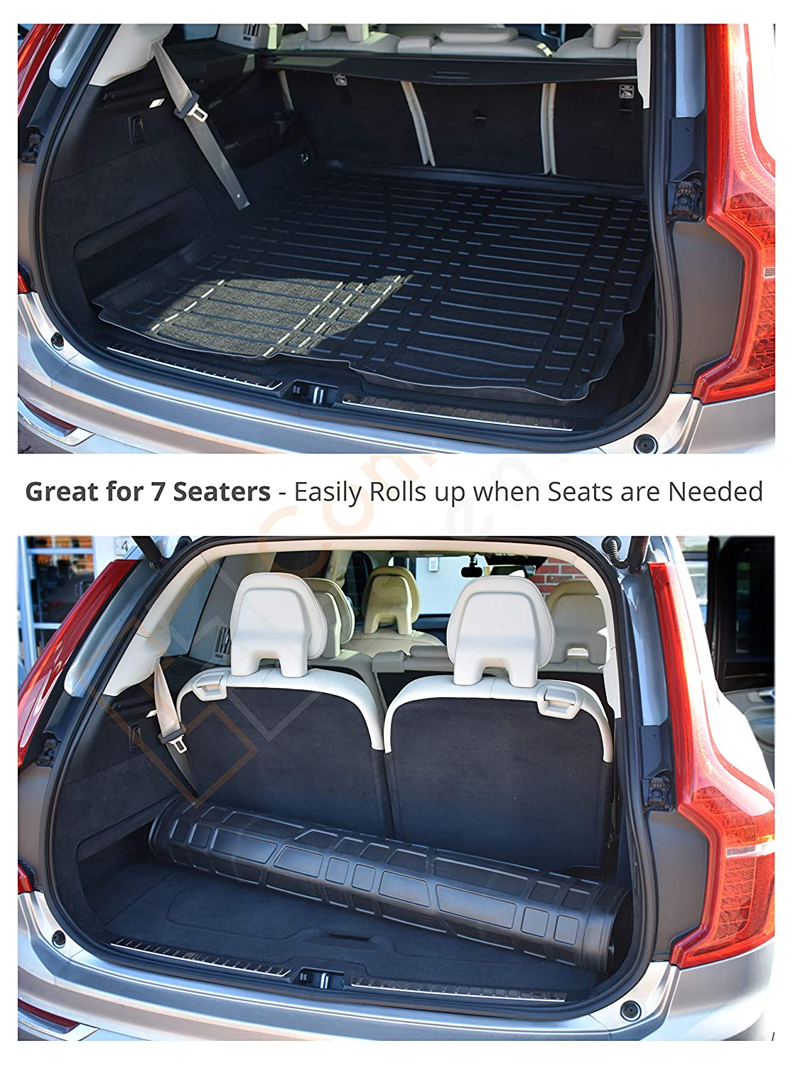 Black Easy Clean Boot Protector Custom Tailored Boot Mat CEB-100 Vehicle Specific Boot Liner Connected Essentials Volvo XC90 2016