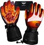 Heated Gloves for Men Women - Electric Heating Gloves, Battery Heated
