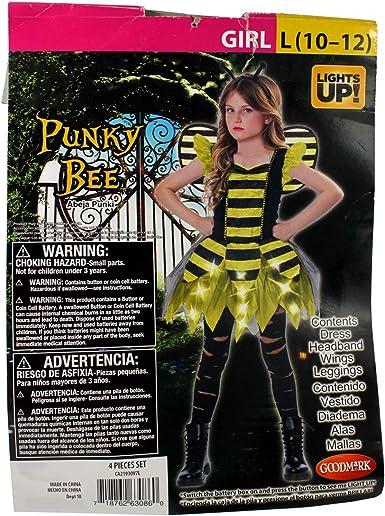 Connie N Randy - Disfraz de Abeja Punky para niña (Talla Grande de ...